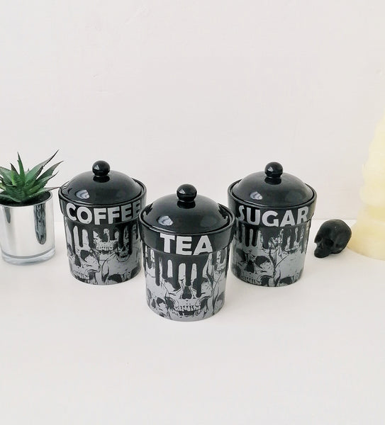 Grey Skull Storage Canisters