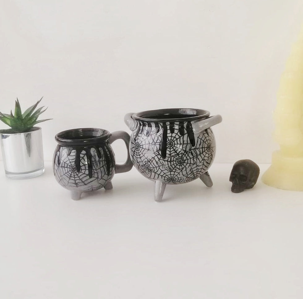 Grey Web Witches Breakfast Set