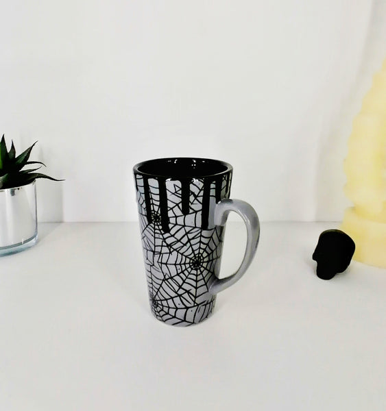 Grey Web Latte Mug
