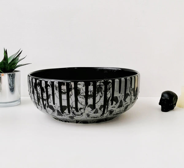 Grey Skull Fruit Bowl
