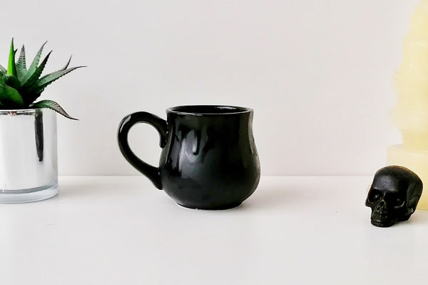Matte Black Bat Bulgy Mug