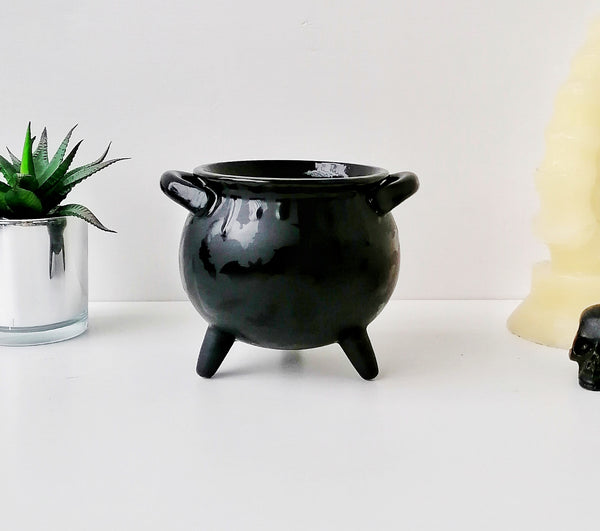 Matte Black Bat Cauldron