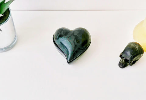 Matte Black Heart Trinket Dish