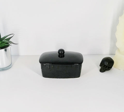 Matte Black Web Butter Bowl