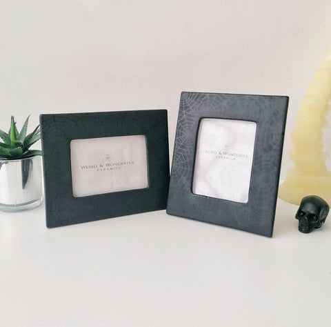 Matte Black Web Photo Frame