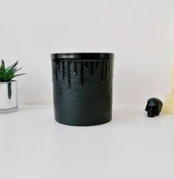 Matte Black Web Utensil Pot