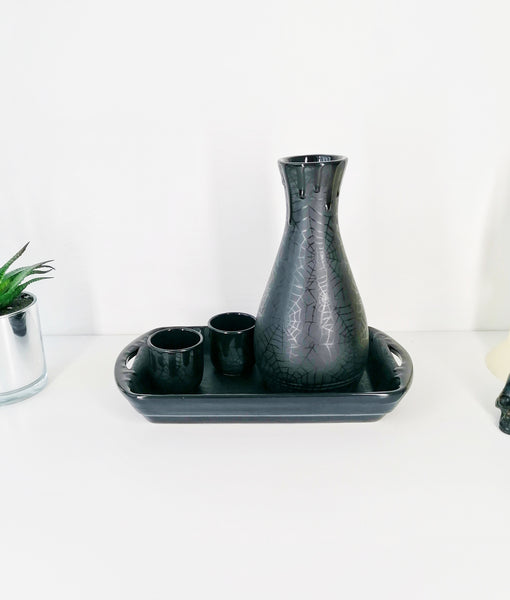 Matte Black Web Sake Set