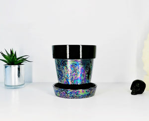 Oil Slick Plant Pot