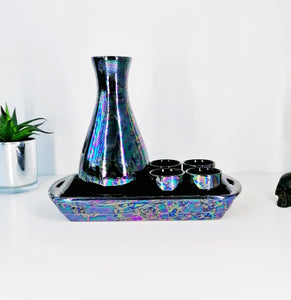 Oil Slick Sake Set