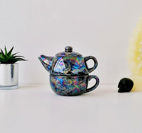 Oil Slick Tea For One Set
