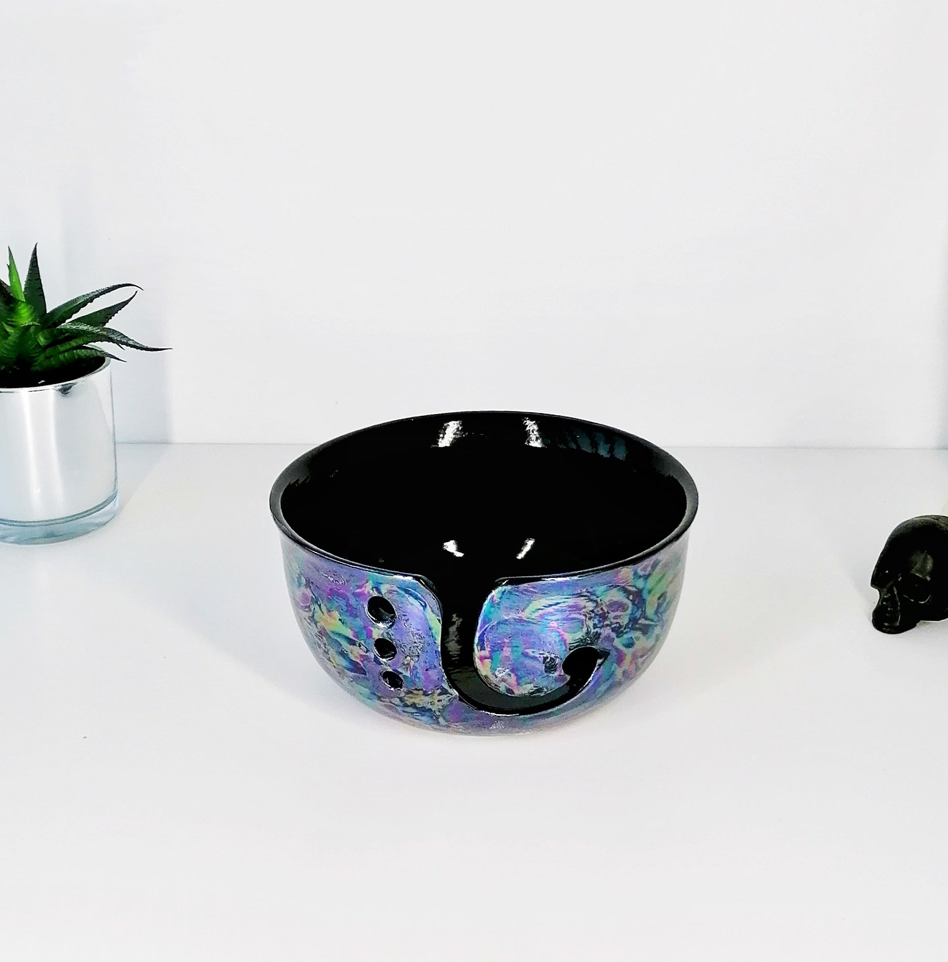 Oil Slick Yarn Bowl