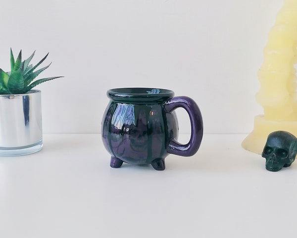 Purple Skull Cauldron Mug