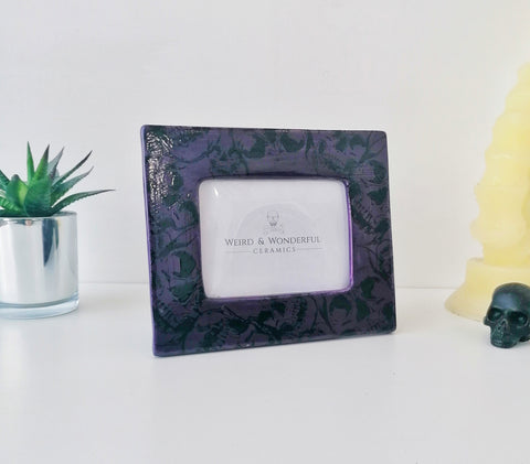 Purple Skull Photo Frame
