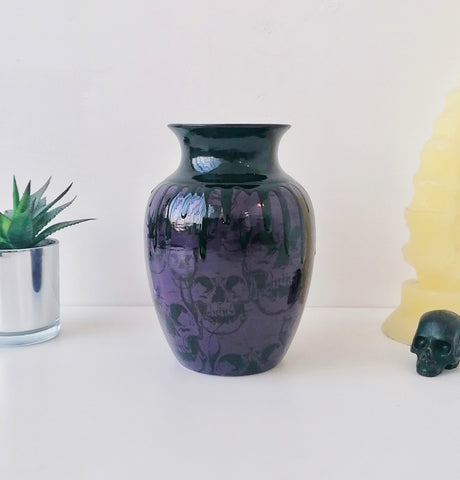 Purple Skull Curved Vase
