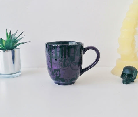 Purple Skull Mega Mug