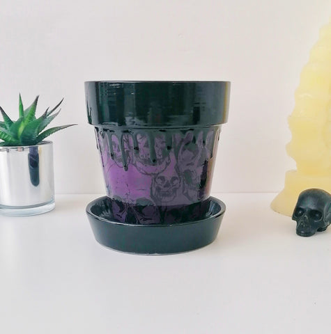 Purple Skull Plant Pot