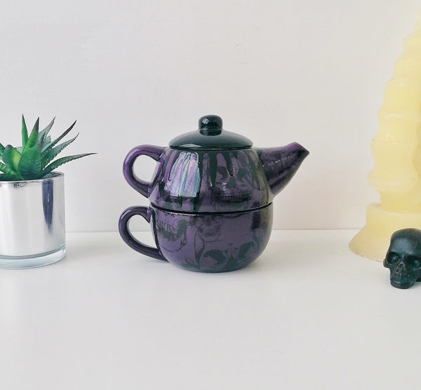 Purple Skull Tea For One Set
