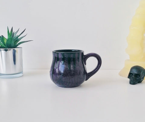 Purple Web Bulgy Mug