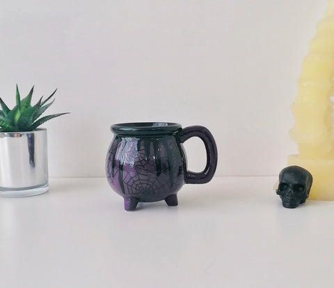 Purple Web Cauldron Mug