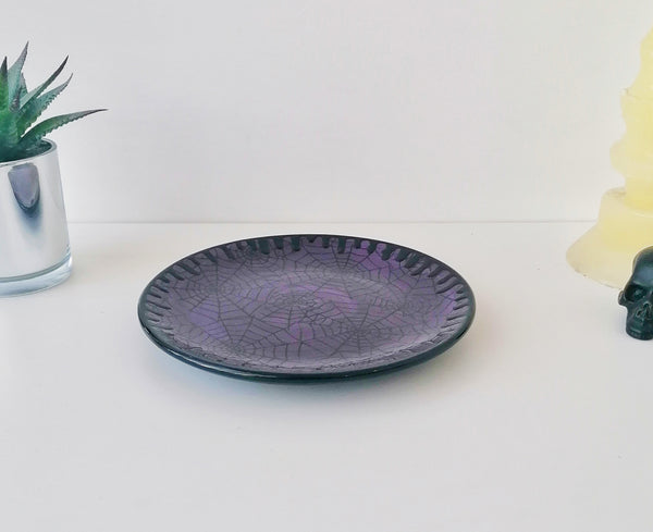 Purple Web Dinner Set