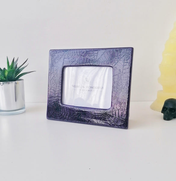 Purple Web Photo Frame