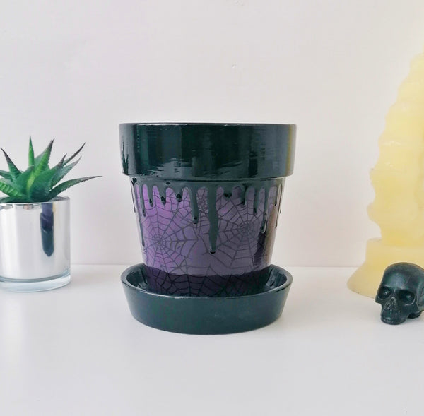 Purple Web Plant Pot