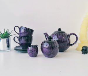 Purple Web Tea Set