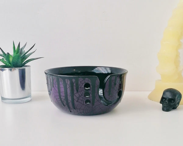 Purple Web Yarn Bowl