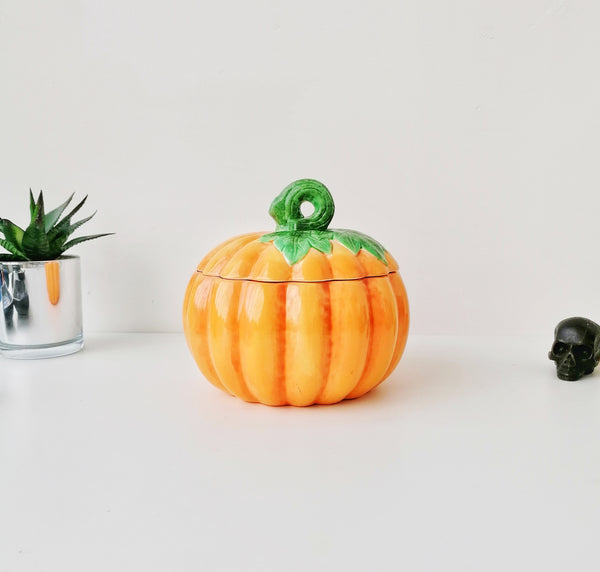 Ceramic Pumpkin Storage Jar