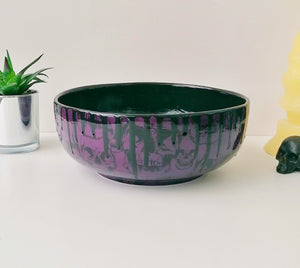 Purple Skull Fruit Bowl