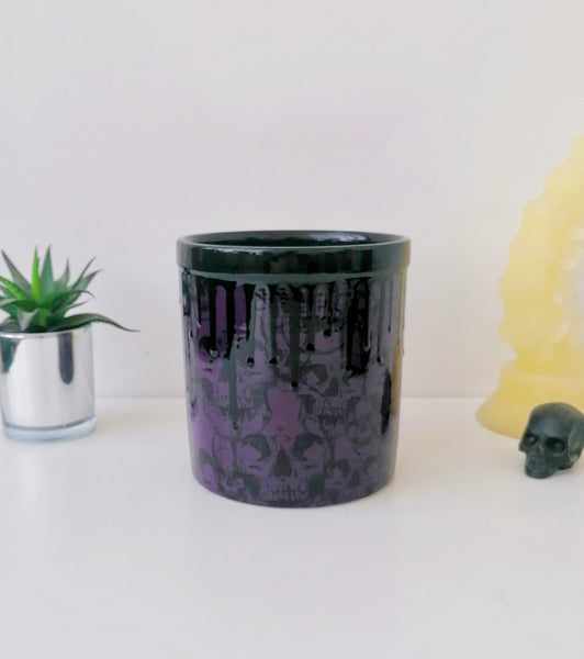 Purple Skull Utensil Pot