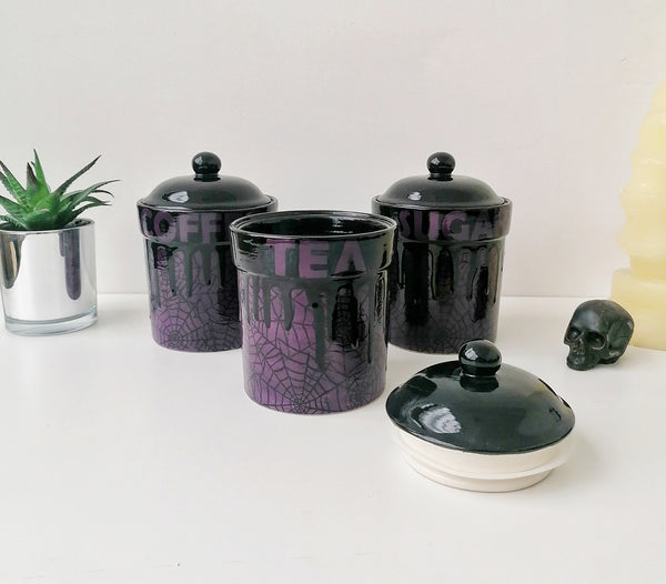 Purple Web Storage Canisters