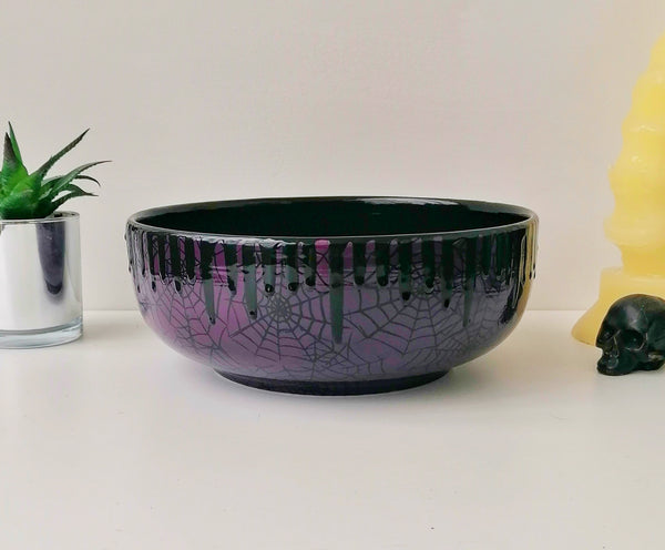 Purple Web Fruit Bowl