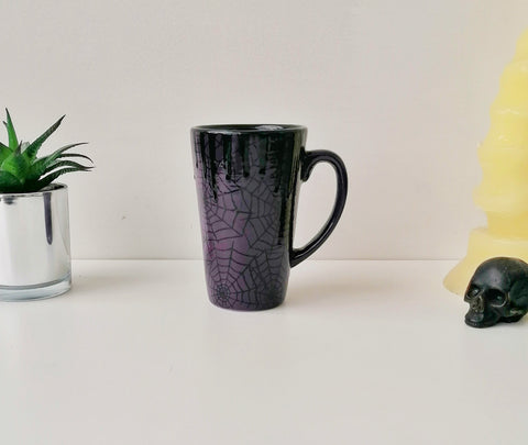 Purple Web Latte Mug