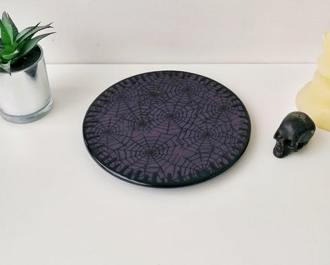 Purple Web Round Trivet