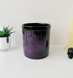 Purple Web Utensil Pot