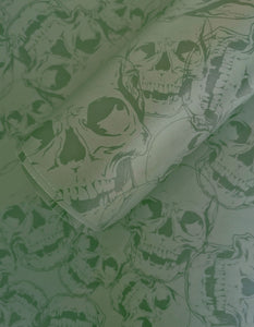 Grey Skull Wallpaper SAMPLE 20cm x 20cm