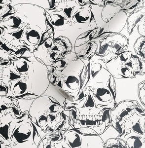 Skull Wallpaper Sample 20cm x 20cm