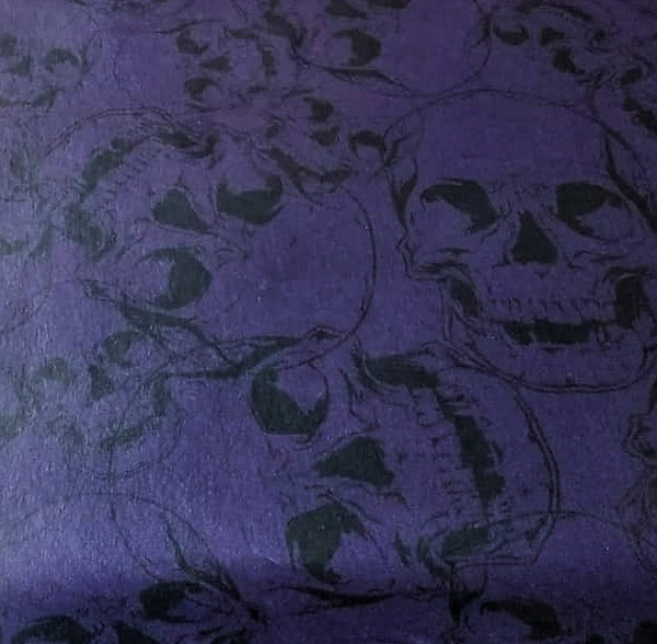 Purple Skull Wallpaper Sample 20cm x 20cm