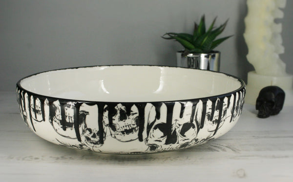 Large Skull Salad Bowl