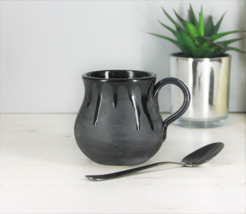 Matte Black Bulgy Mug