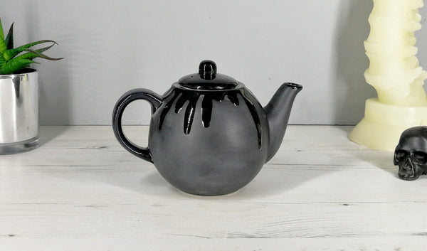 Small Matte Black Teapot