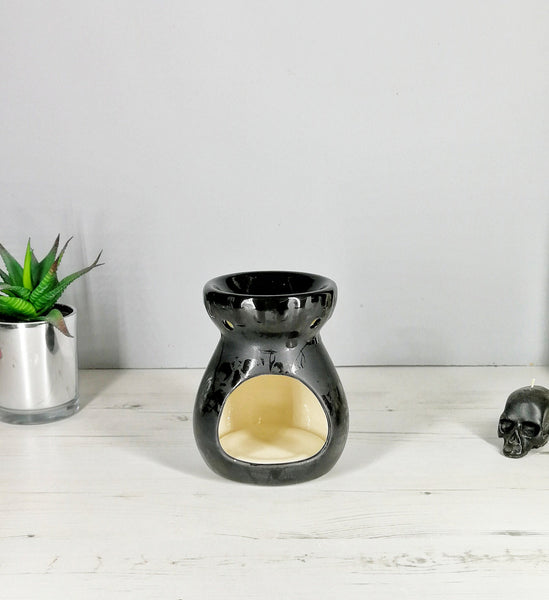 Matte Black Skull Wax Warmer