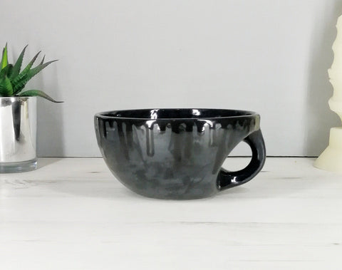 Matte Black Skull Snug Bowl