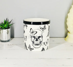 Skull & Butterfly Utensil Pot