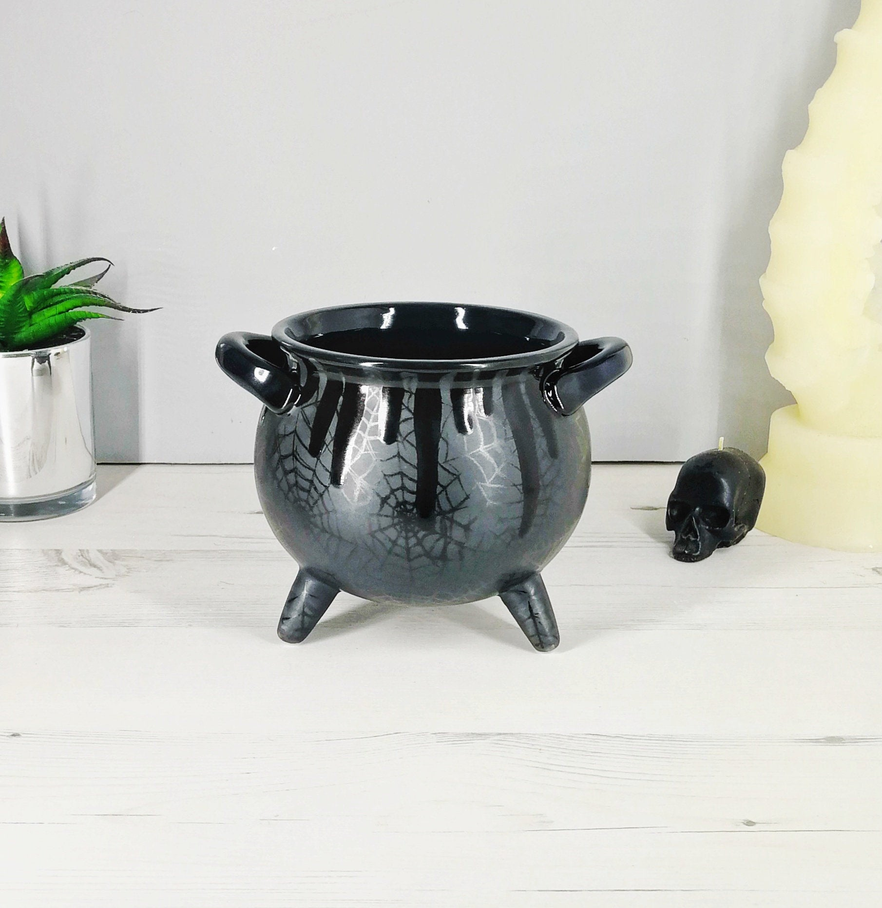 Matte Black Web Cauldron