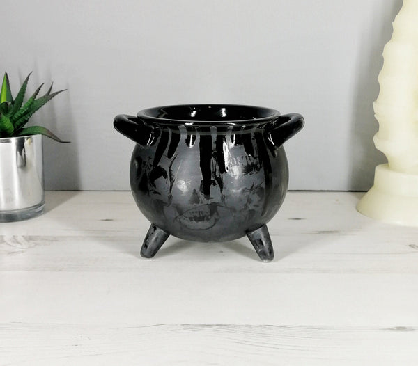 Matte Black Skull Cauldron