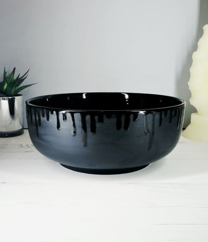 Matte Black Fruit Bowl