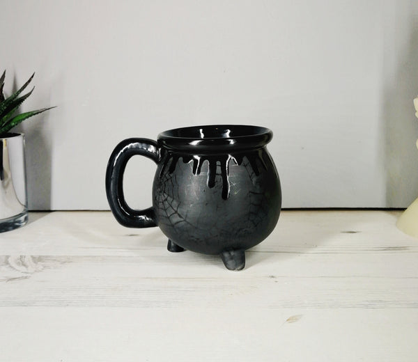 Matte Black Web Cauldron Mug