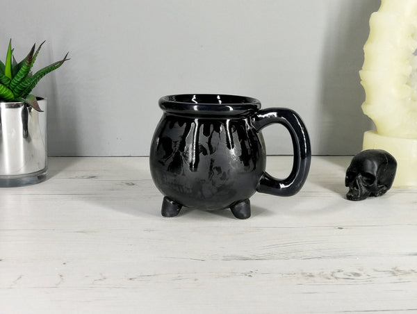Matte Black Skull Witches Breakfast Set